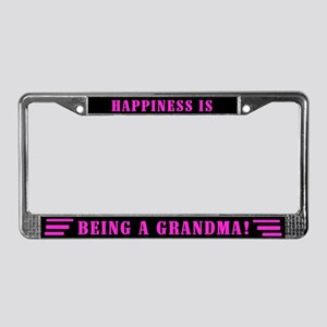 Happy Grandma License Plate Frame